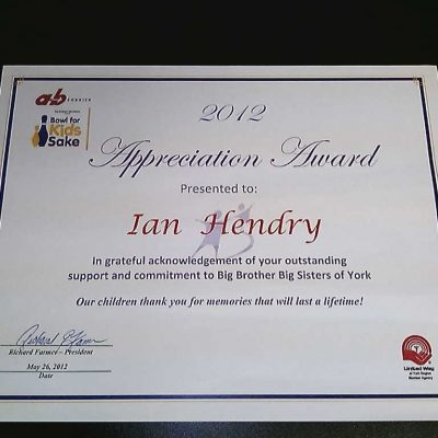 big brothers & sisters award